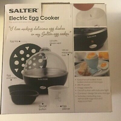 Salter EK2783 Electric Boiled Poached Egg Cooker, 430 W Ex-display