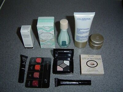 Chanel~Dior~Lancome~Mac~Benefit~Clarins Travel Size Items