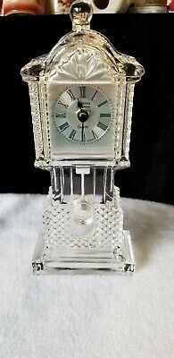 "10 1/2"" Crystal Legends 24% lead Crystal Clock With Pendulum By Godinger"