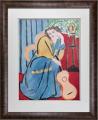 "Henri MATISSE Limited SIGNED Lithograph ""Femme Et...Guitare"" w/FRAMING"