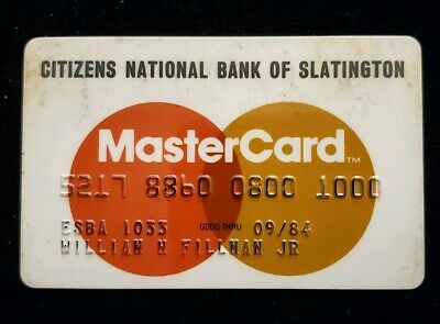 Citizens National Bank Slatington MasterCard Credit Card exp 84♡Free Ship♡cc144