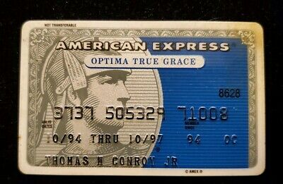 American Express Optima True Grace Credit Card expired 1997 ♡Free Shipping♡cc130