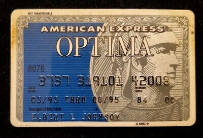 American Express Optima Credit Card expired 1995 ♡Free Shipping♡cc131