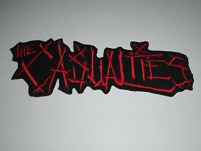 The Casualties Iron On Embroidered Patch
