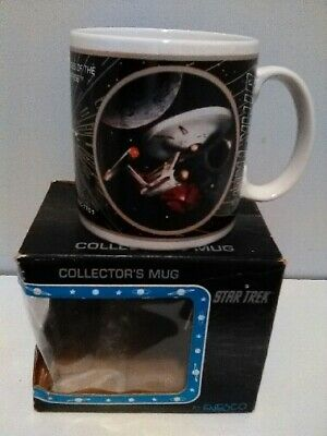Rare Nib Enesco 1994  Star Trek Uss Enterprise Ncc 1701 Ceramic Collectors Mug