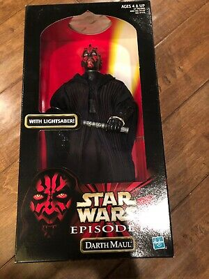 Star Wars Episode 1 Darth Maul 12 inch Action Figure with Lightsaber 1998 New
