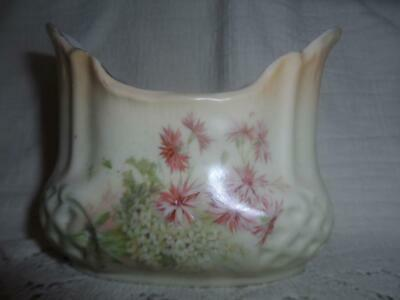 Antique Hand-Painted German Porcelain Vanity Make-Up Brush Jar ToothBrush Holder