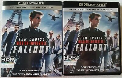 Mission: Impossible Fallout 4K Ultra Hd Blu Ray 3 Disc Set + Slipcover Sleeve