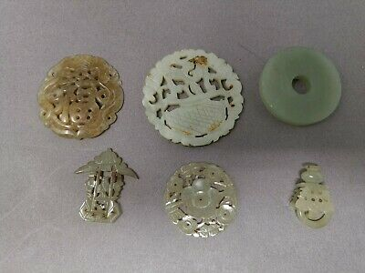 Philip's Carmel Old Estate Chinese 6x White Jade Carved Stuffs Asian China