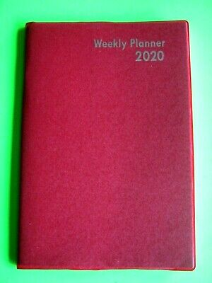 2020 1 year Weekly large Red PLANNER 5x7 Calendar Agenda Toll Free Number Page