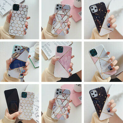 Geometric Marble Plating Soft Case Cover For iPhone 11 Pro Max XS XR X 8 7 Plus
