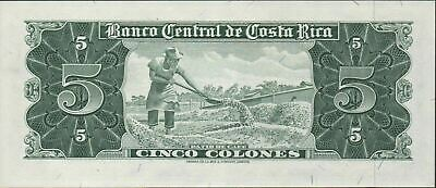 Costa Rica  5  Colones  3.10.1963  P 228a  Series C 22 Uncirculated Banknote MIT