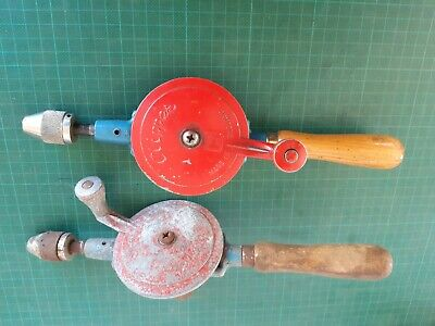 Vintage hand drills x 2,  CLIPPER, made in England