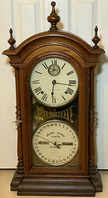 "1875 Seth Thomas Fashion Southern Calendar Co.wind Clock  26"" High"