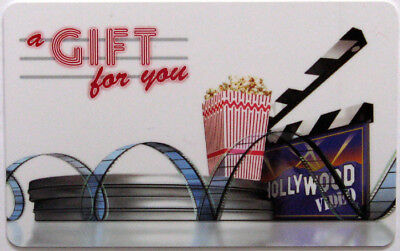 HOLLYWOOD VIDEO - Gift Card 2008 NO Value RARE !!!