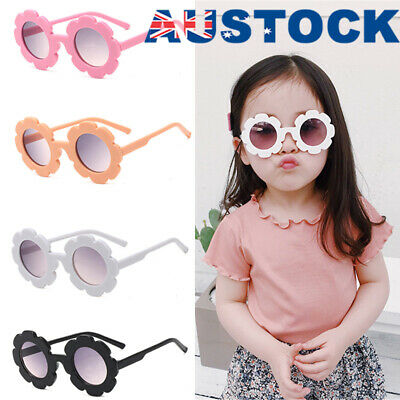 Popular Girls Boy Baby Retro Flower Kids Sunglasses Anti UV Children Sunglasses