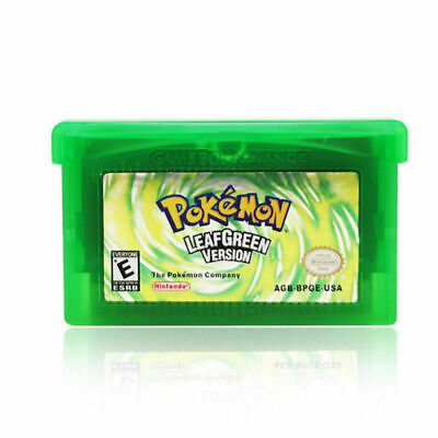 Leaf Green Version Cartridge Card for Pokemon Game Boy Advance NDSL GBA SP NDS