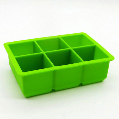 6 Cell Ice Cube Mold Silicone Ice Tray Mould Bar Party Whisky Cocktail Ice Maker