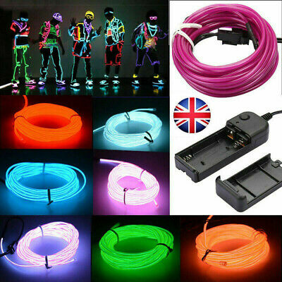 EL Wire Neon RGB Color Lights LED Stick Figure Kit Innovation Light for Clothe A