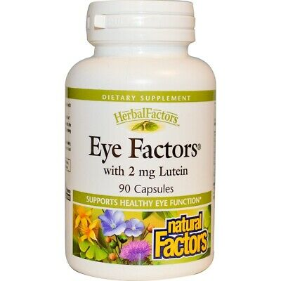 Eye Care & Vision Supplement 90 Capsules   Lutein Bilberry Eyebright Marigold
