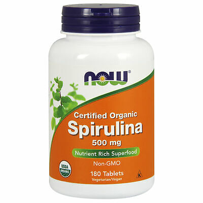Organic Spirulina 500mg 180 Tablets | Detox Cleanse | Energy | High Protein