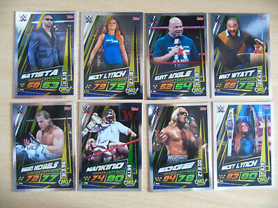 WWE TOPPS TRADING CARDS SLAM ATTAX UNIVERSE SERIES x 8 OMG! MOMENTS WRESTLING