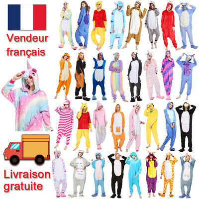 Adulte Pyjama Grenouillère Animal Tout Onesie1Costume Déguisement Robes nuisette