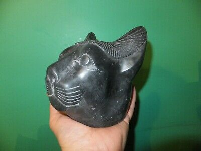 Beautiful Large Head Of The  Ancient Egyptian Cat Goddess Bastet (Repro).