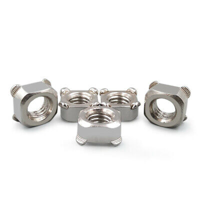 A4 Stainless Steel M8-1.25 400 pcs Metric Square Weld Nuts DIN 928