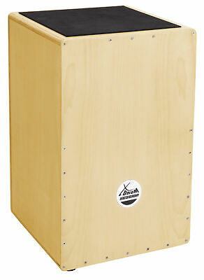 Cajon Tambour Caisse Batterie Percussion à Main Cordes Accordables Bois Bouleau