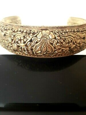 Tibetan Gold Gilded Bronze Bracelet 700 Years Old