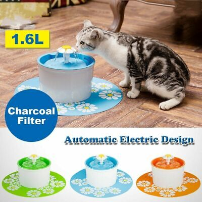 Pet Dog Cat Automatic Water Fountain Drinking Feeder Bowls Dish Filter Dispenser
