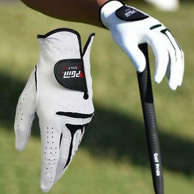 1pc Men Anti slip Cabretta Leather LEFT/RIGHT Hand White Golf Gloves liked txhoy