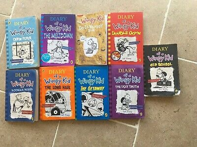 Diary of a Wimpy Kid Books - Jeff Kinney 9 books