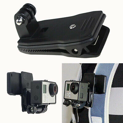 FM_ 360 Degree Rotation Fast Clamp Backpack Hat Mount Fixing Clip for Gopro Came