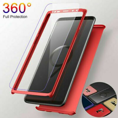 360 Case Cover For Samsung Galaxy S6 edge S7 S8 S9 Plus Shock Proof Hybrid TPU