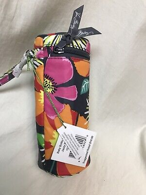 NWT Vera Bradley Jazzy Blooms Insulated Baby Water Bottle Can Holder Carrier 8""