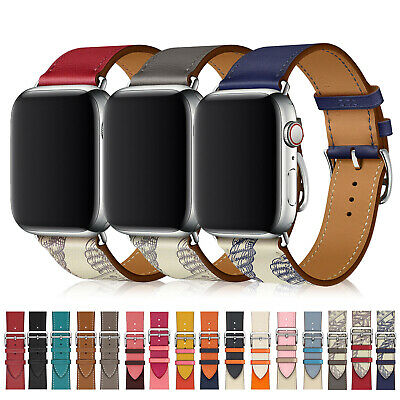 Leather Band Strap Bracelet For Apple Watch Series 5 4 3 2 1 44mm 40mm 42mm 40mm