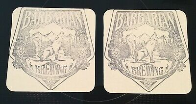 2 Bavarian Brewing Co Beer Bar Coasters Garden City ID Howling Wolf Advertising