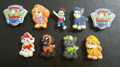 9 x Paw Patrol Shoe Charms Made For Croc shoes Crocs Jibbitz Charm Skye Chase