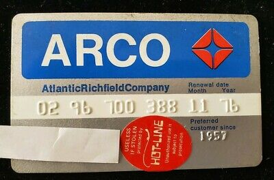 ARCO Credit Card expired 1976 ♡Free Shipping♡ cc29