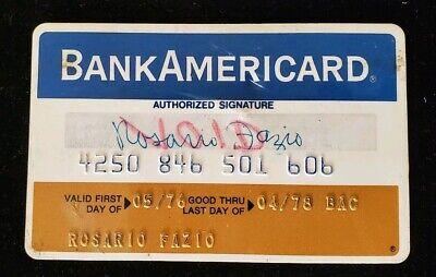BankAmericard BT Credit Co. NY Credit Card exp1978 ♡Free Shipping♡ cc112