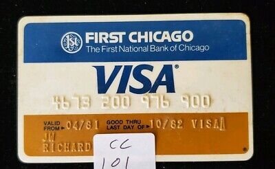 First Chicago Visa Credit Card expired 1982 ♡Free Shipping♡ cc101