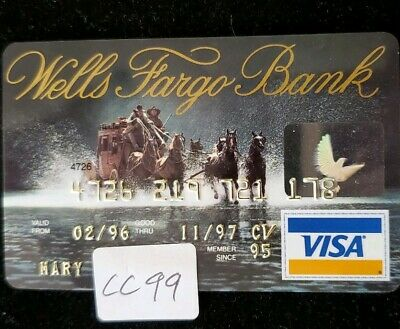 Wells Fargo Visa Credit Card exp 1995 ♡Free Shipping♡cc99☆ Stagecoach