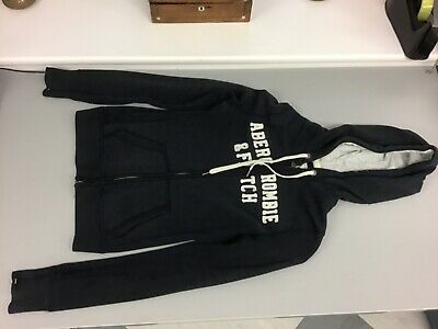 Abercrombie and Fitch zipped girls hoodie, small navy