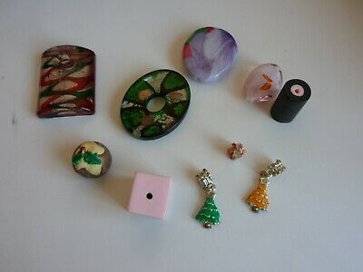 collection of Ten Pendants/Buttons/Charms