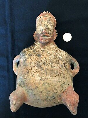 Pre-Columbian Jalisco Seated Female Figure, 100 BC - 250 AD, NICE!