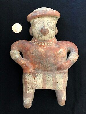 Pre-Columbian Nayarit Standing Male Figure, 100 BC - 250 AD, NICE!