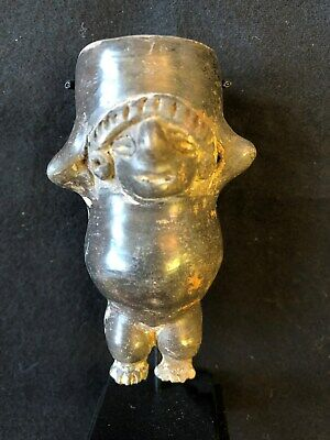 Pre-Columbian Colima/Michoacan Blackware Figure, ca. 200 BC - 200 AD, FREE SHIP
