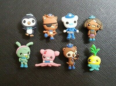 8 x Octonauts Shoe Charms Made For Croc shoes Crocs Jibbitz Charm